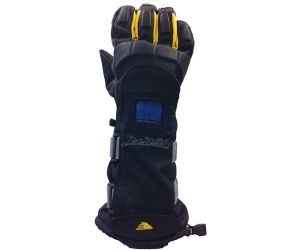 Snowboard protection gloves with 1 protection black yellow