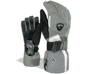 Snowboard Gloves Womens Butterfly Tartan Grey