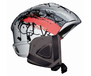 Ski and Snowboard Helmet Snow Grey